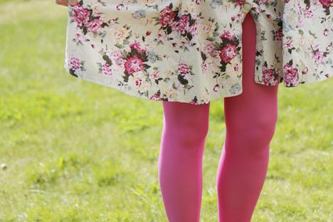 blommig-klänning