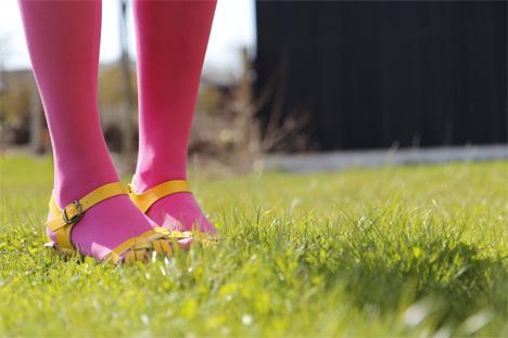 rosa-strumpbyxor