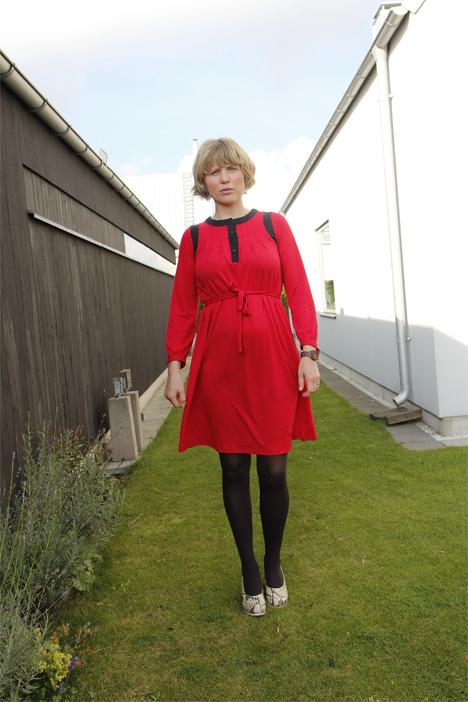 röd klänning vintage