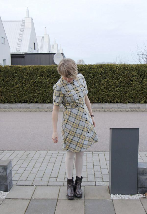 rutig klänning vintage