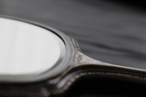 slipad spegel vintage