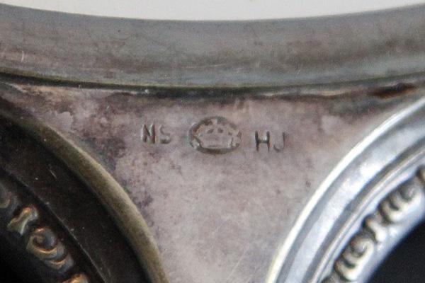 stämpel silver NS krona HJ