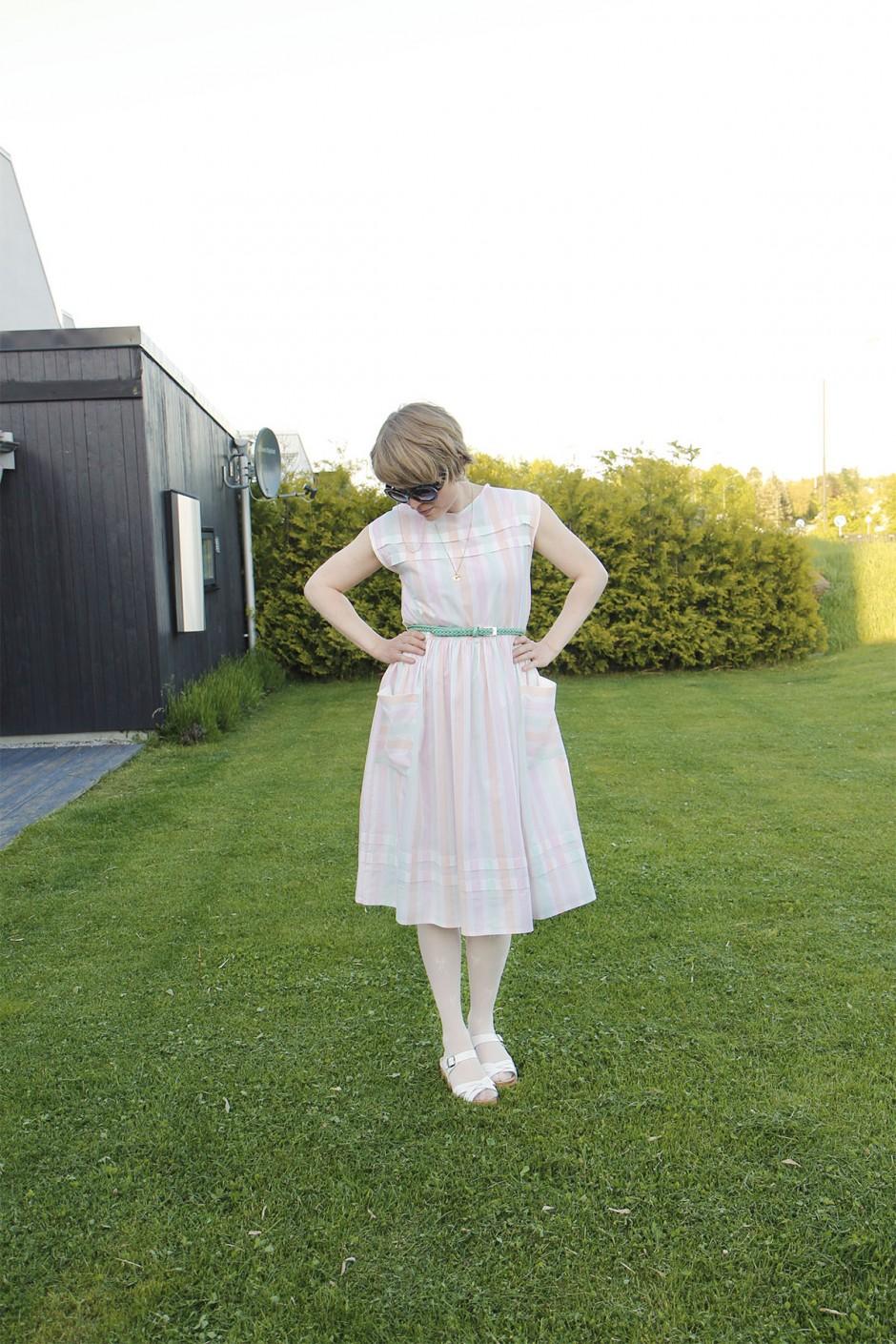 randig-klänning