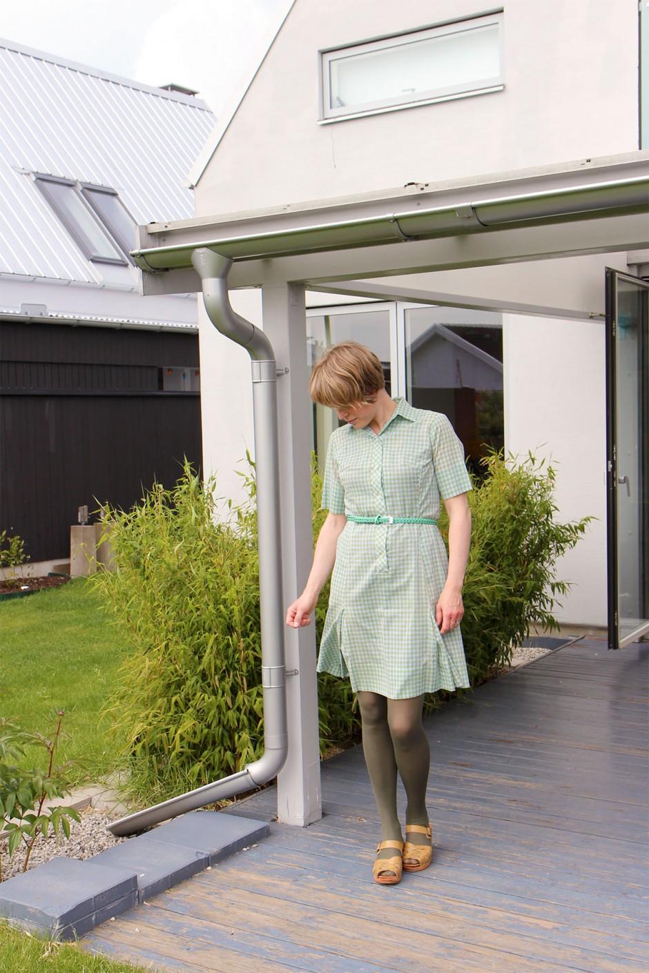 rutig-klänning-vintage