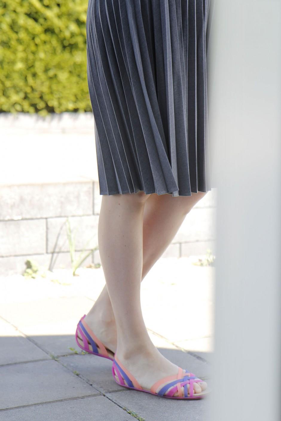 kjol grå