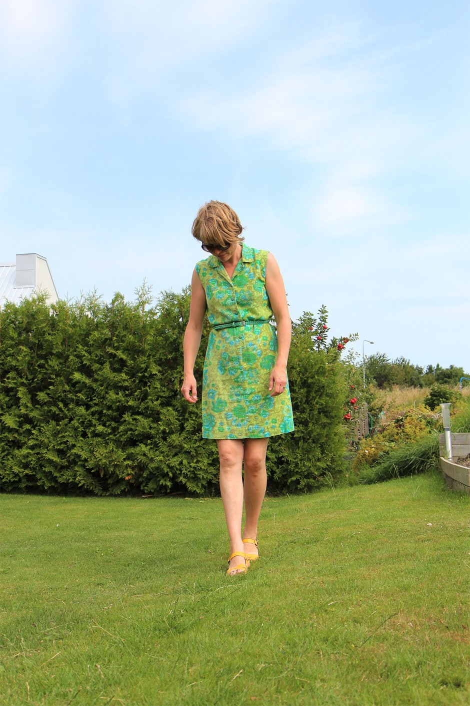 klänning-grön-vintage