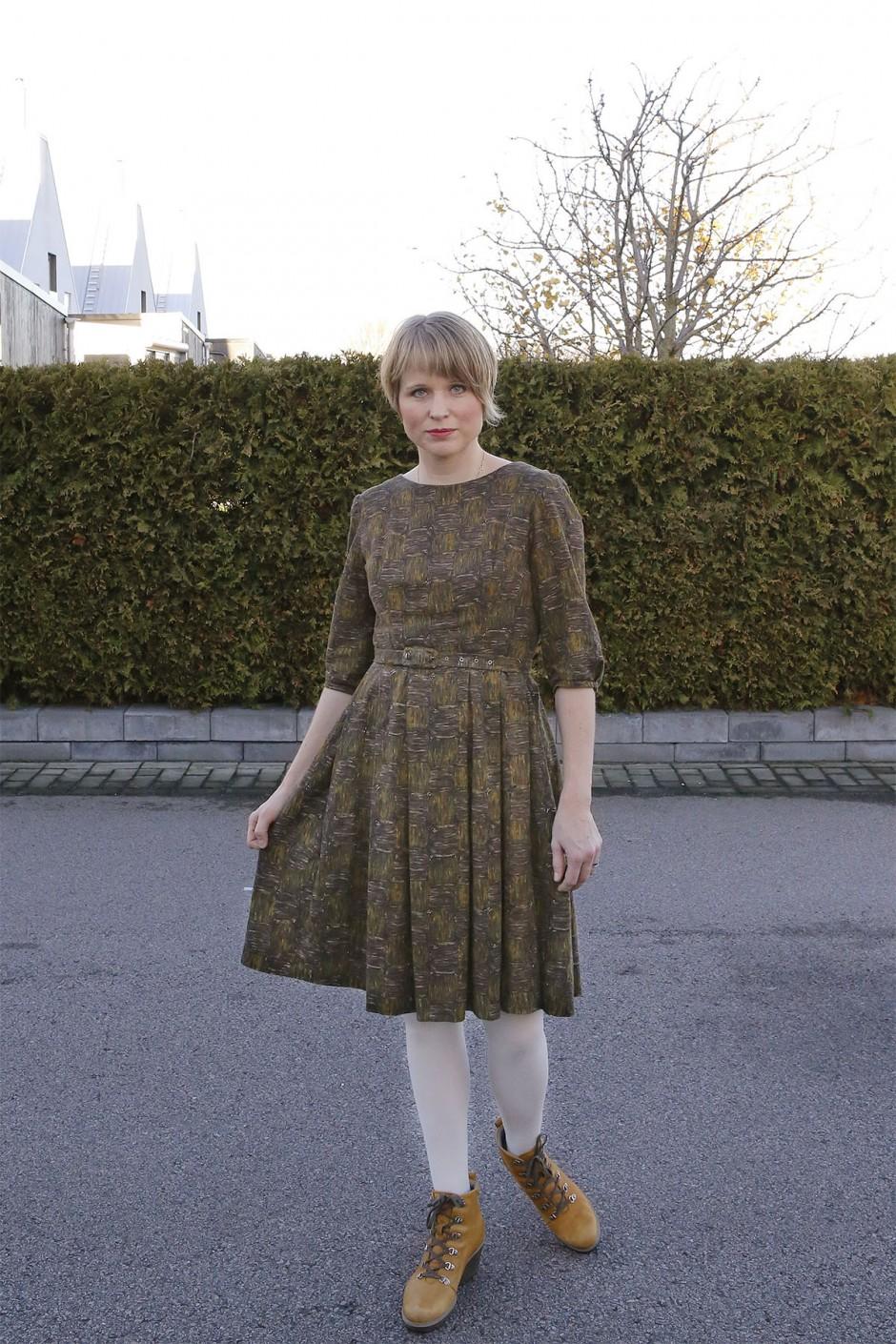 höstklänning vintage