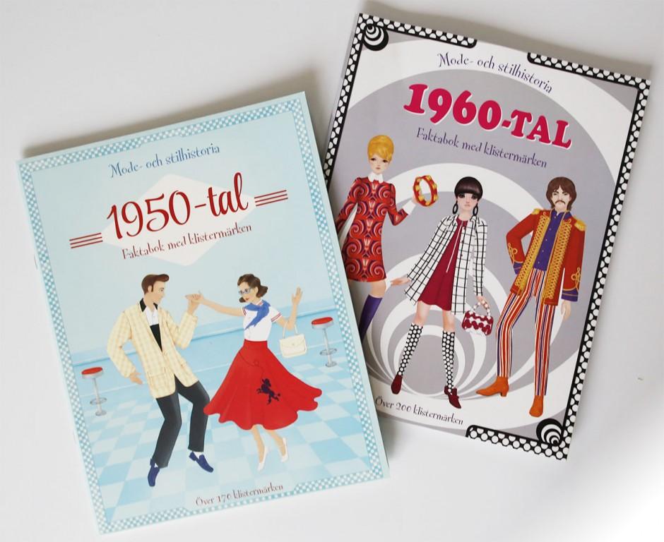 50-tal och 60-tal faktabok med klistermärken