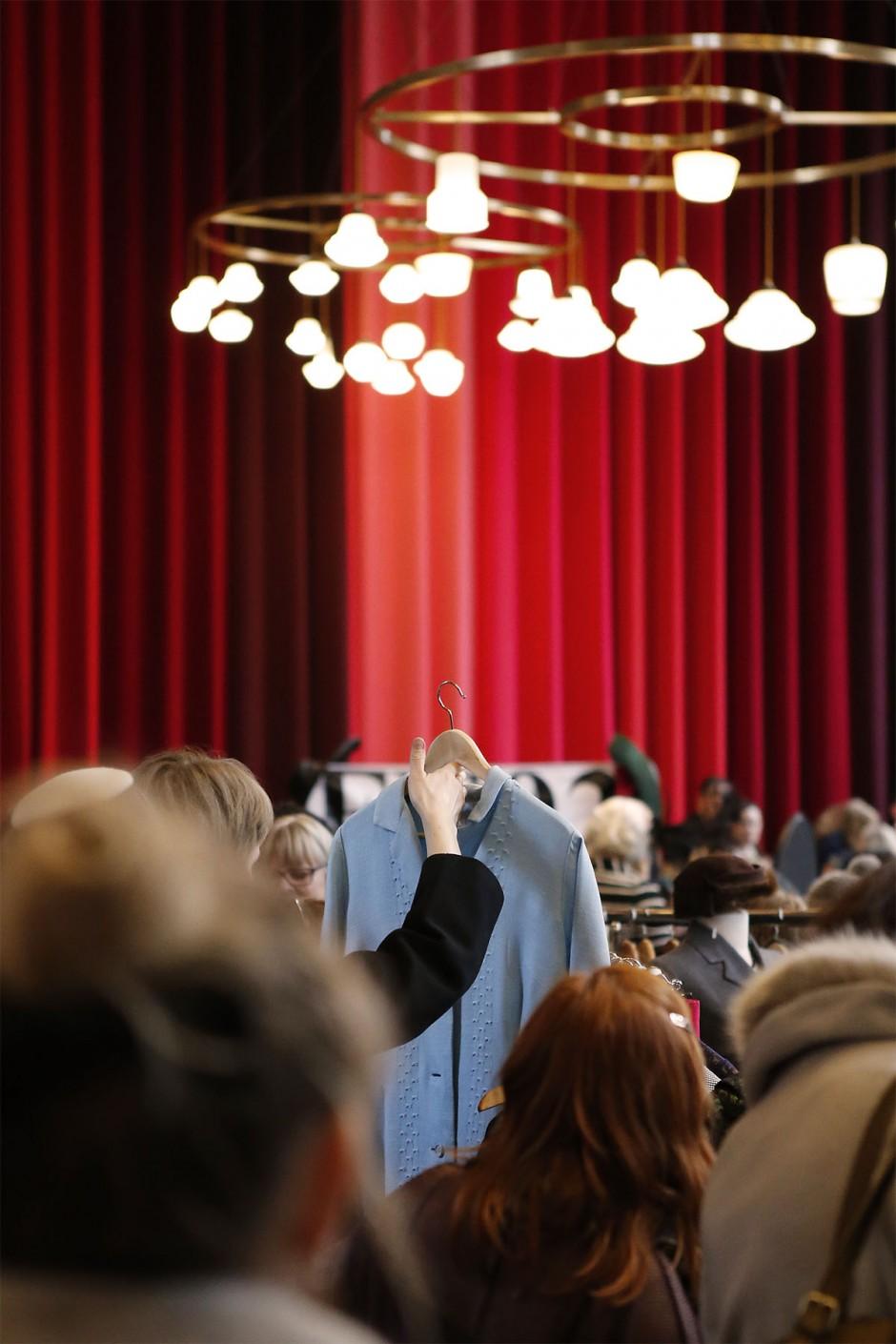 ljusblå vintageklänning