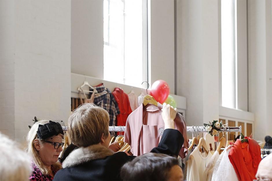 rosa vintageklänning