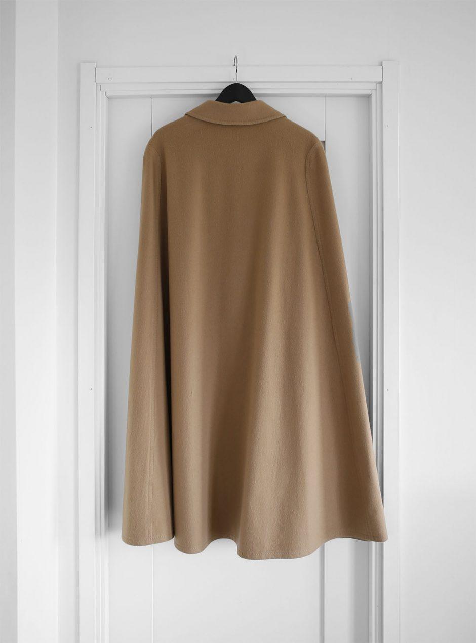 kappa brun ull bak