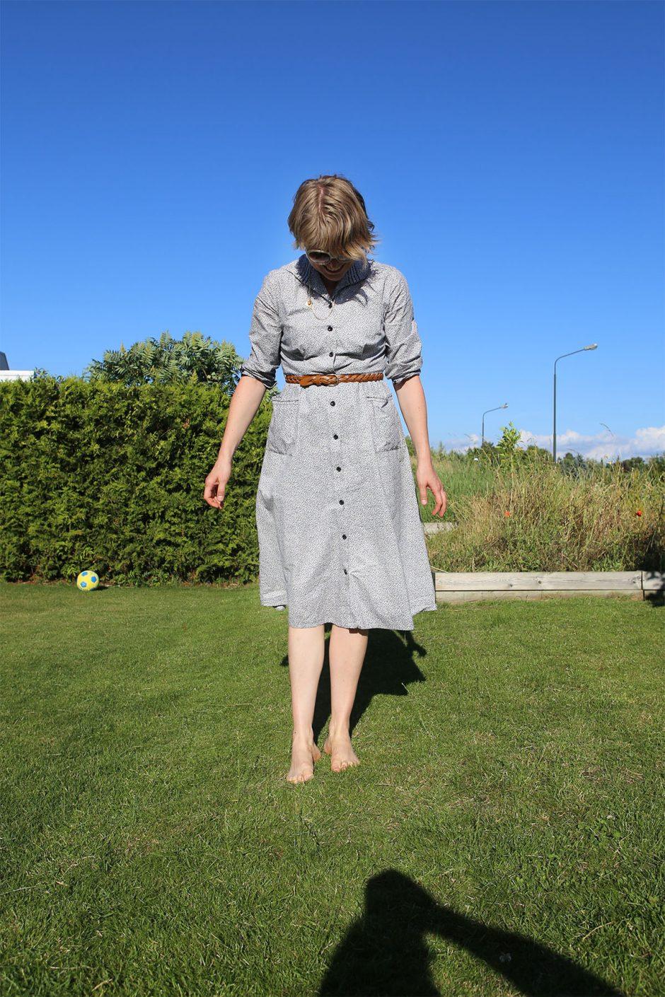 klänning i trädgården