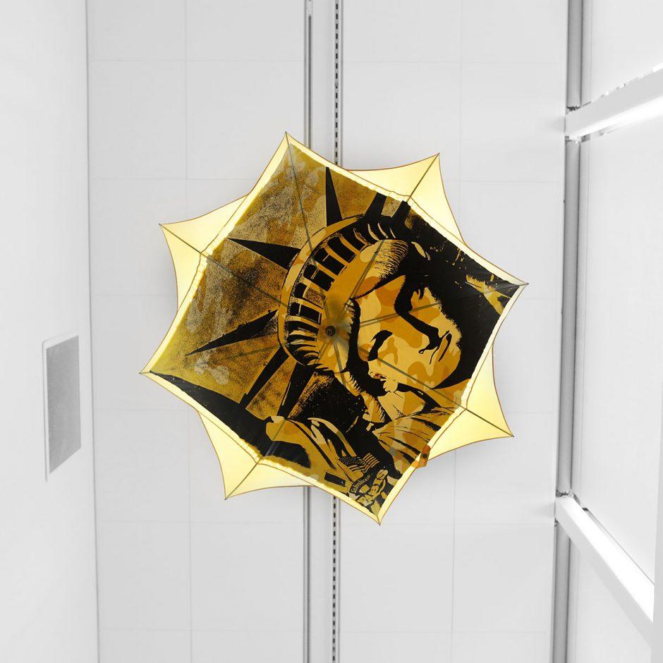 warhol frihetsgudinnan paraply