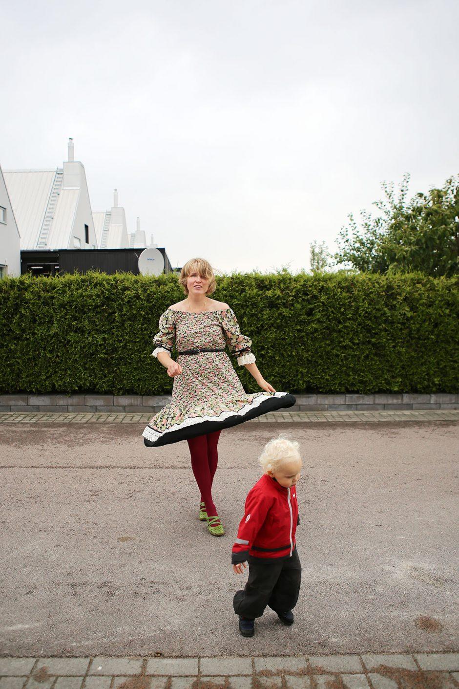 vintageklänning twirl